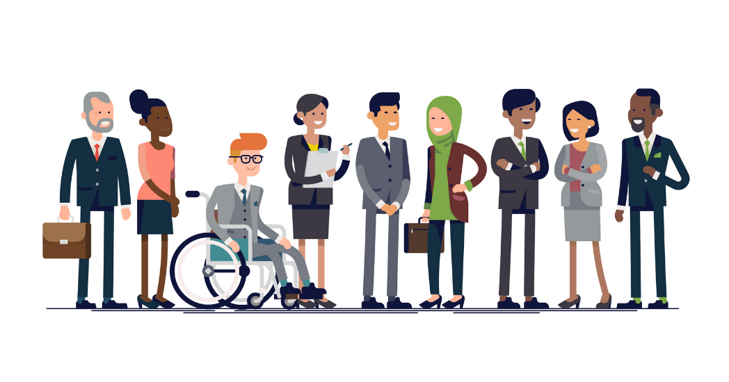 An illustration of diversity, equity, and inclusion.