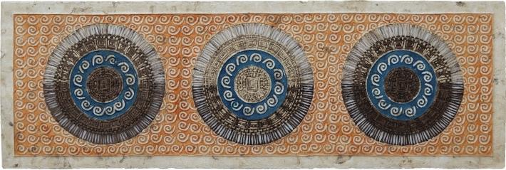 Arte de pared. Arte mexicano. Horizontal.