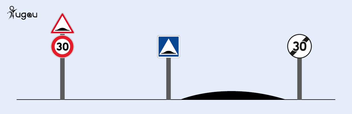 Signalisation pour ralentisseurs sans passage piéton