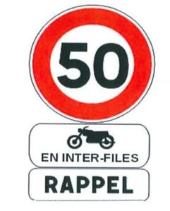 Panneaux de signalisation interfiles pour les deux roues
