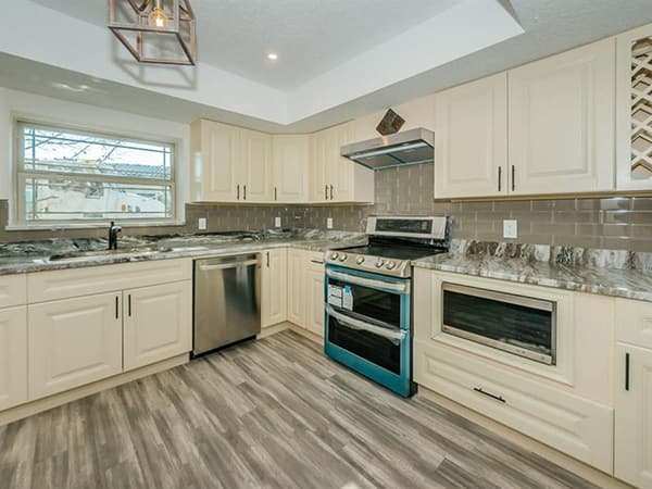 Remodeled kitchen in St. Petersburg, Florida
