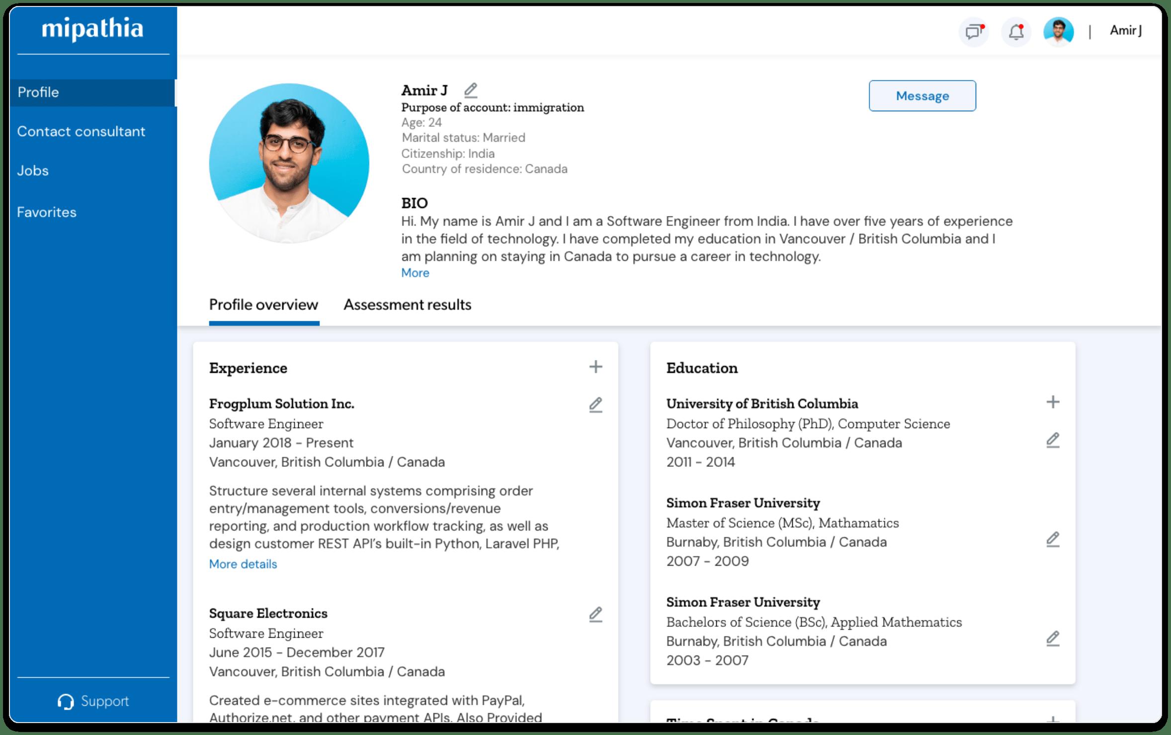 Mipathia official profile