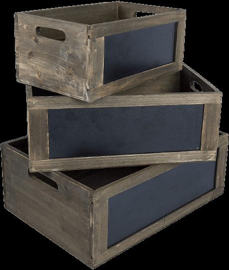 Wood Nesting Storage with Chalkboard