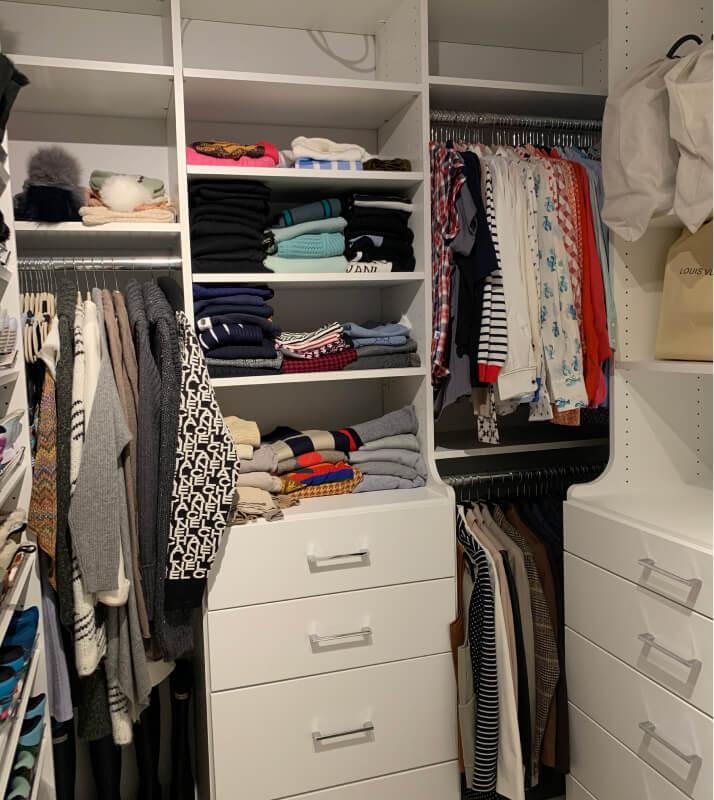 Professionally Organized Luxury Master Closet