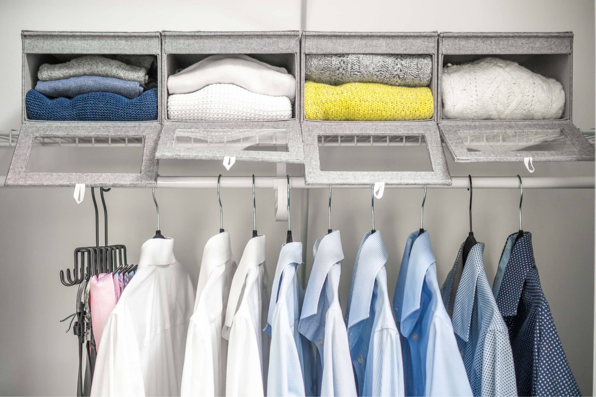Home Clothes Organizing Boxes with Shirts