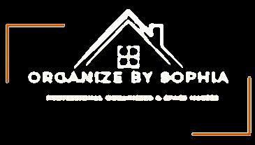 Organize by Sophia Logo White