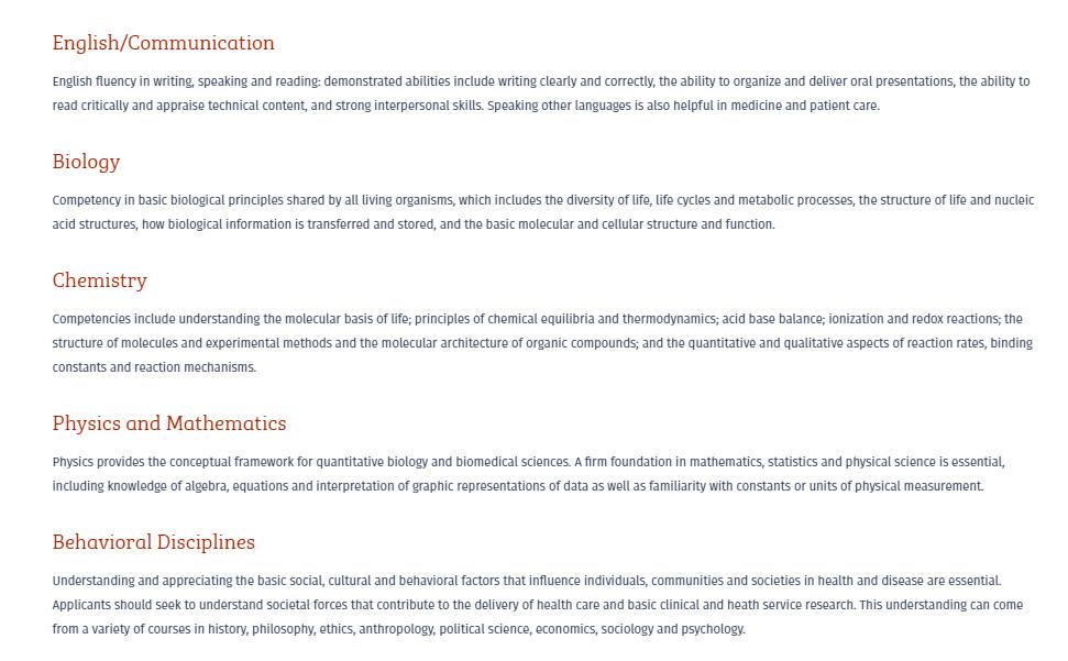 Perelman School of Medicine academic requirements
