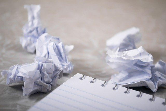 Crumpled paper depicting the difficulty of writing your own letter of recommendation