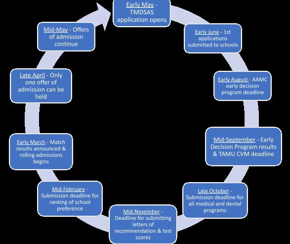 TMDSAS application timeline