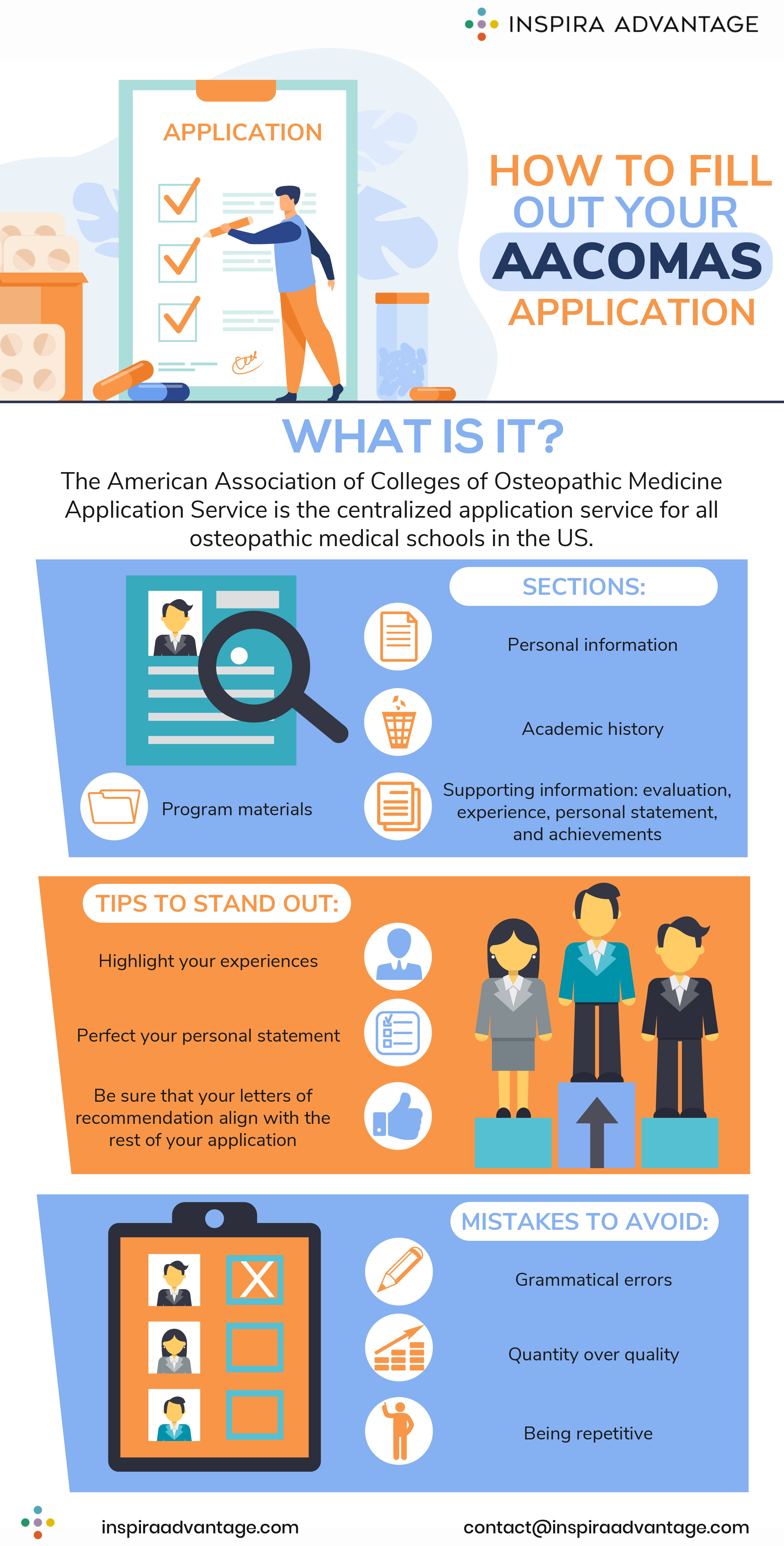 How to fill out your AACOMAS application