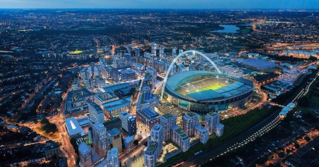 Wembley park night