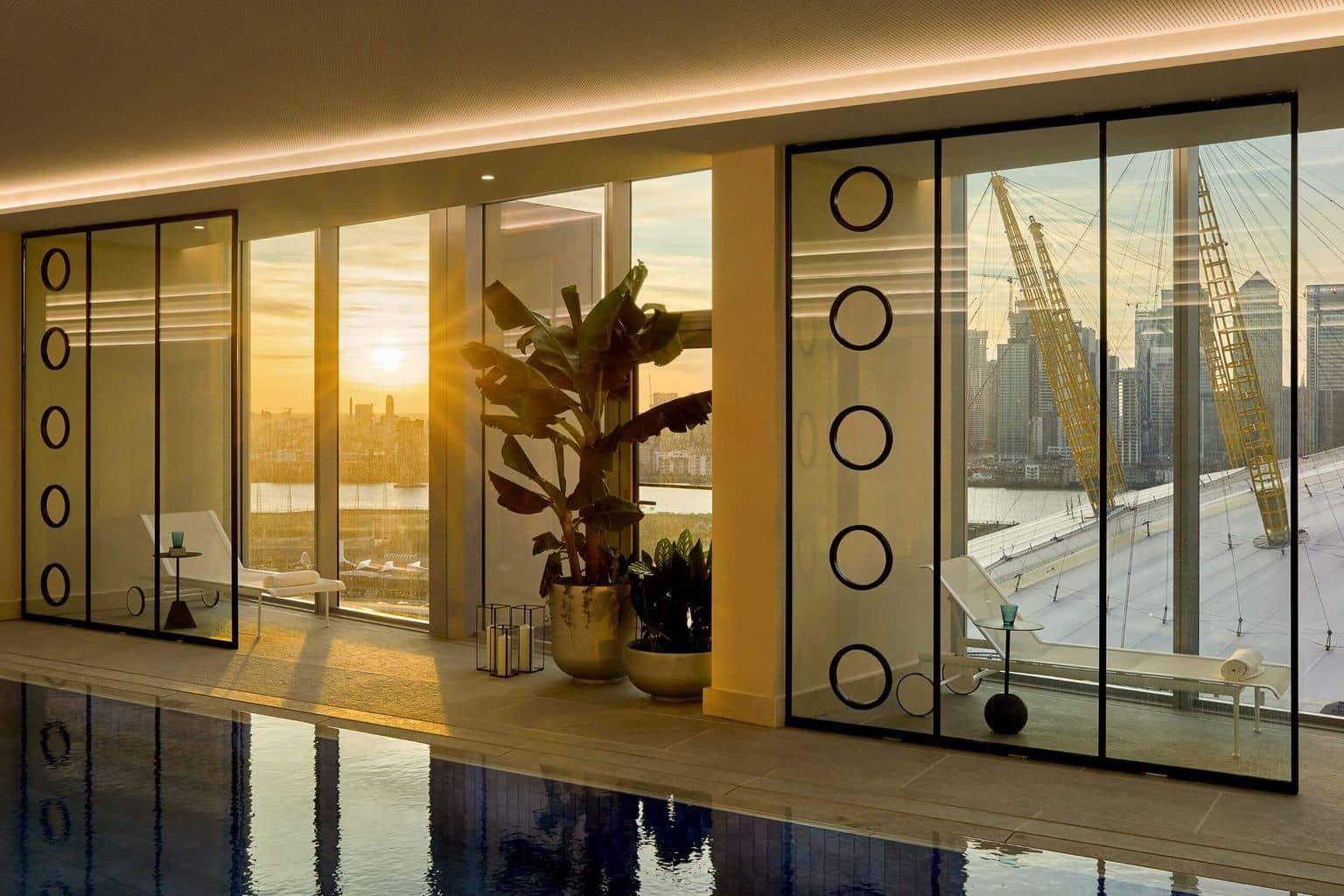 swim in one of London's highest indoor pools