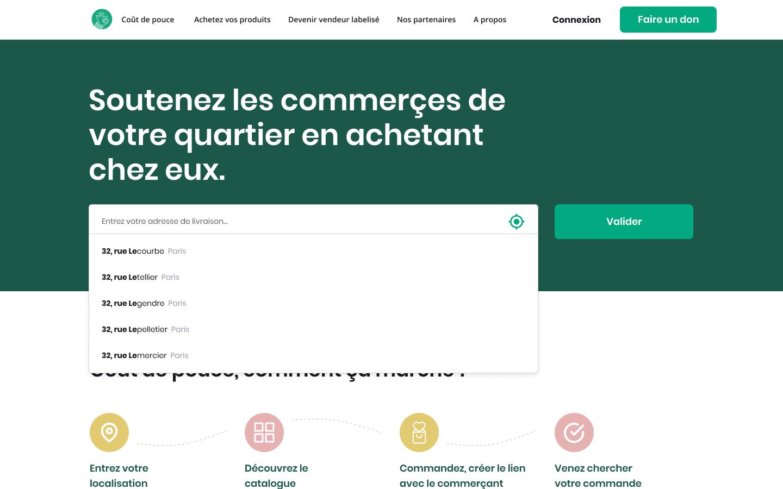Homepage of Coût de Pouce