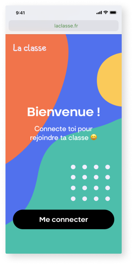 wireframe d'une application