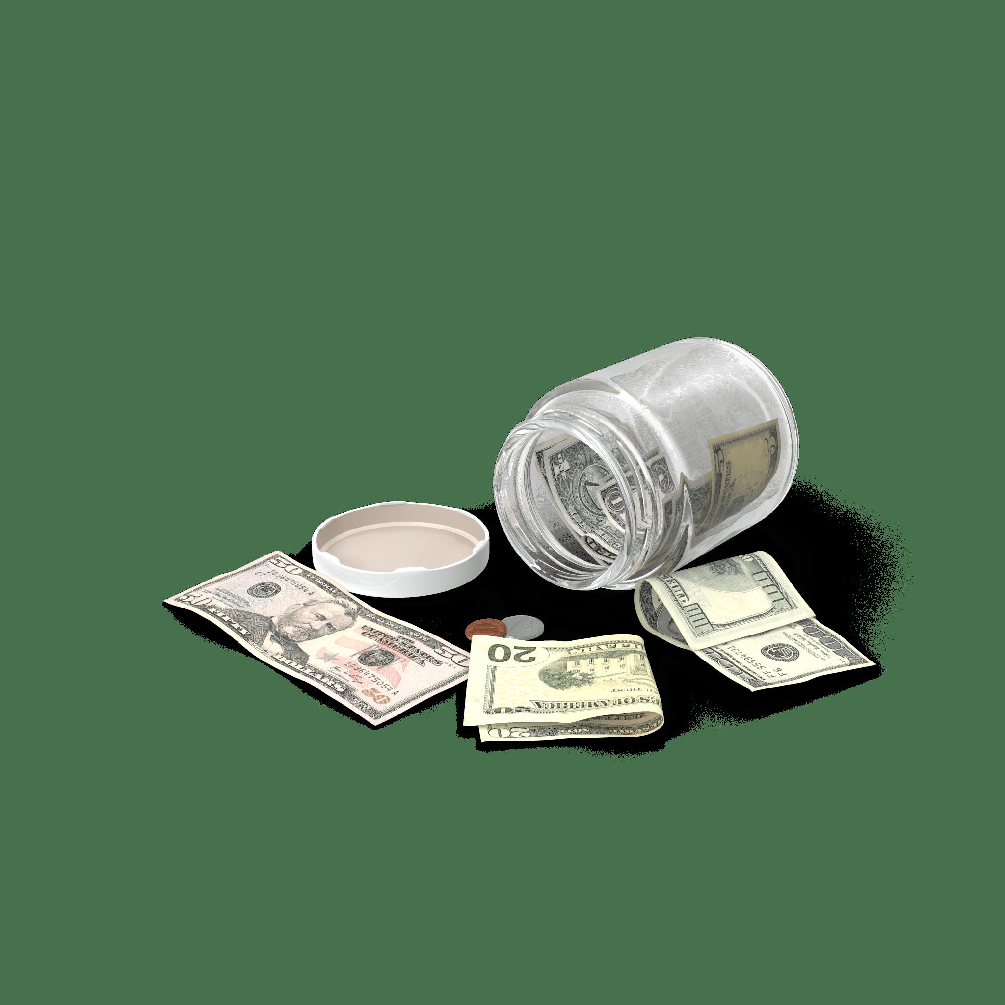 Utilizar el método de los tarros para ahorrar dinero rápidamente