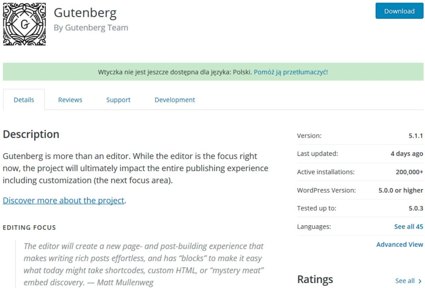 gutenberg w wordpress jak zainstalowac