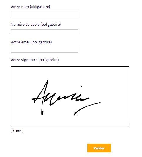 podpis elektroniczny w formularzu wordpress