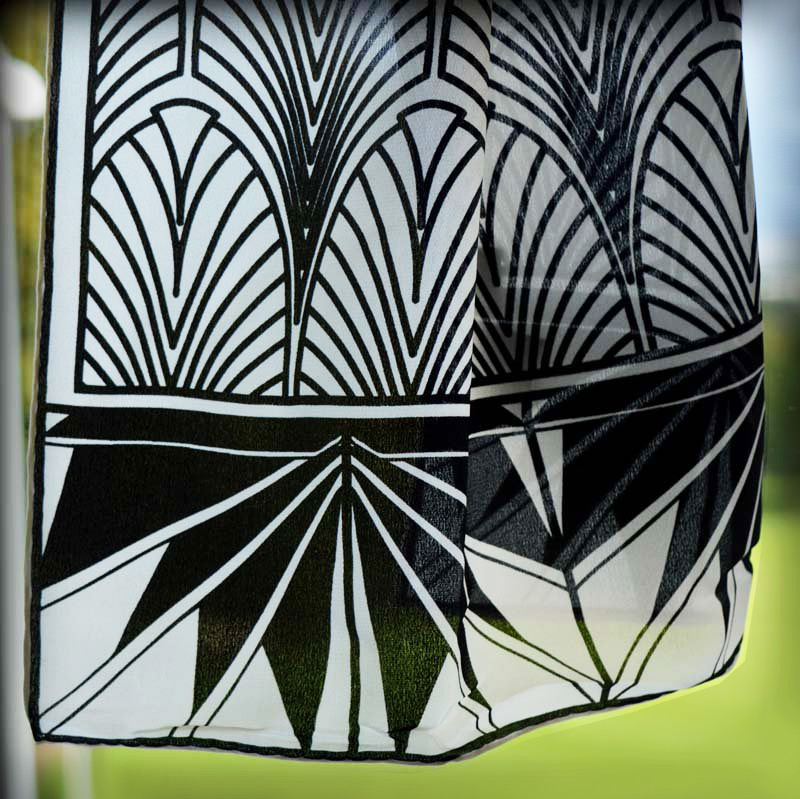 Silk Scarf - Deco Patterned