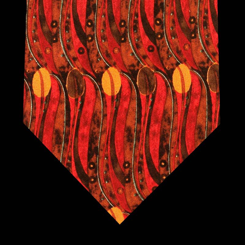 Silk Tie - Stylised Tulips