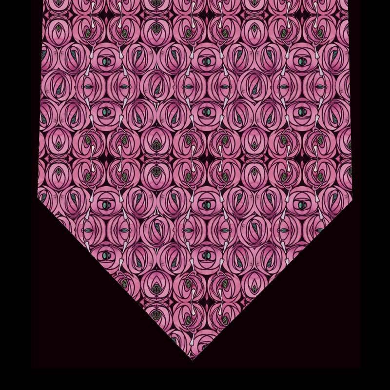 Silk Tie - Teardrop & Rose