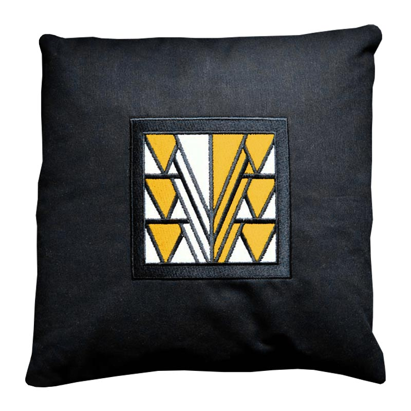 Cushion - Stained Glass - Black