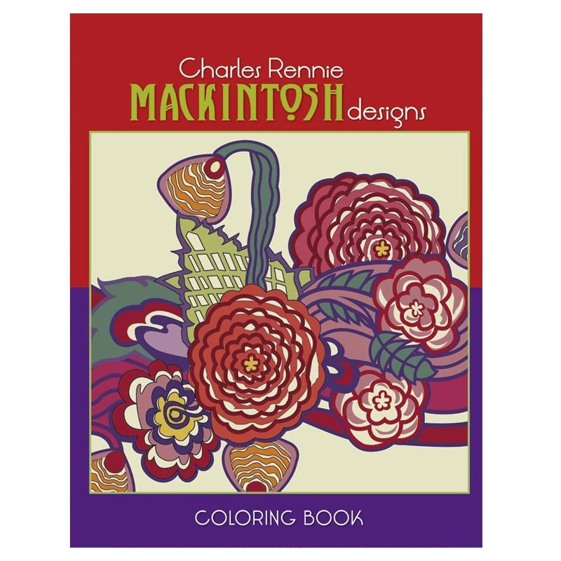 Book - Mackintosh pattern colouring book