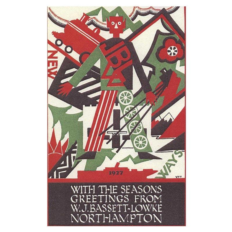 Poster - 1927 Bassett-Lowke Christmas Card