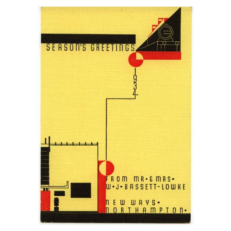 Poster - 1934 Bassett-Lowke Christmas Card