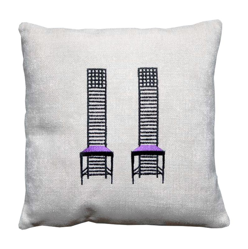 Cushion - Mackintosh motif chairs