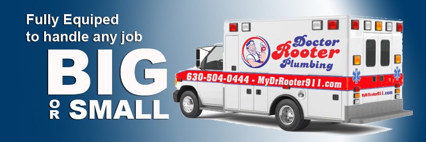 fully equipped to handle any job big or small, Doctor Rooter Plumbing banner