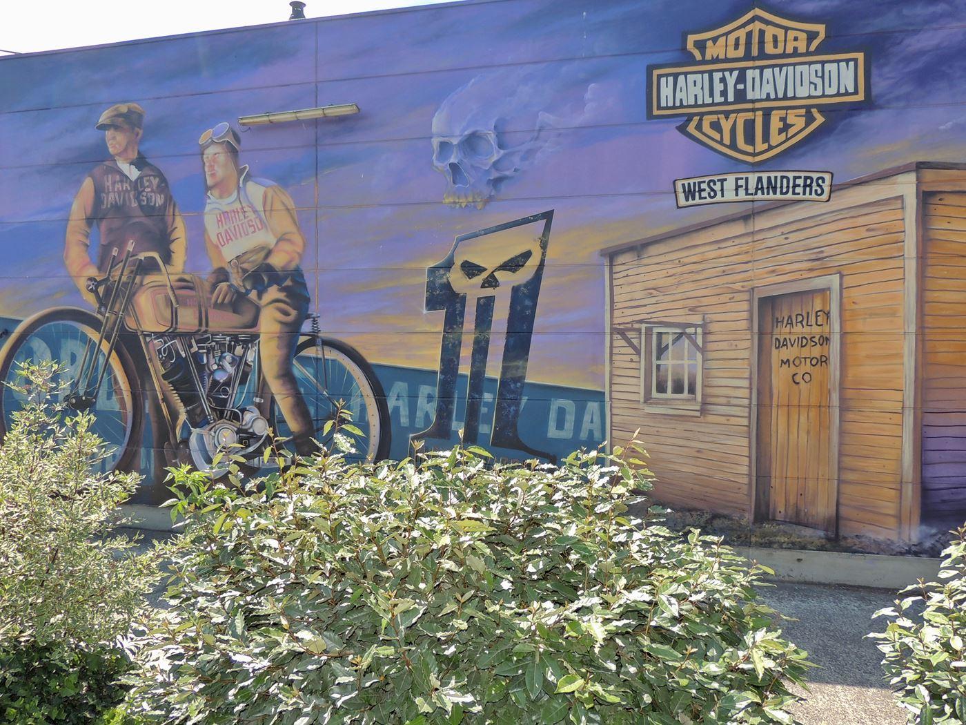 Harley Davidson West Flanders custom mural painting