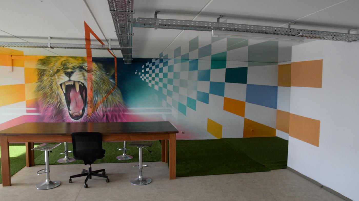 Indoor kantoor mural - Digitaal Huis