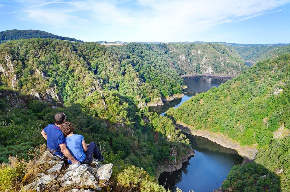 Panorama et vue sur la Dordogne en Corrèze