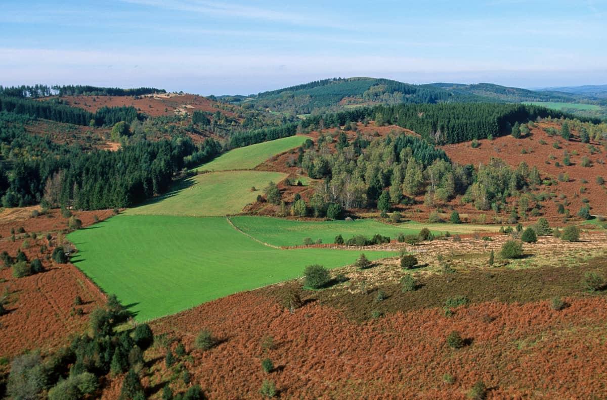 Plateau de Millevaches en Corrèze