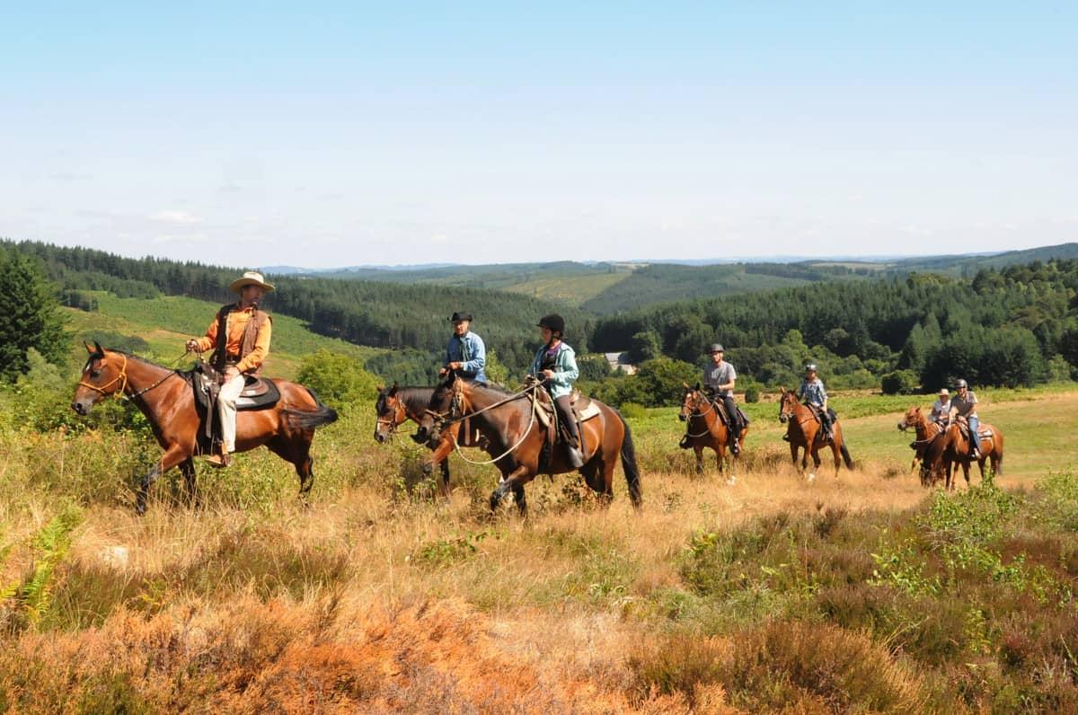 Ballade en cheval en Corrèze