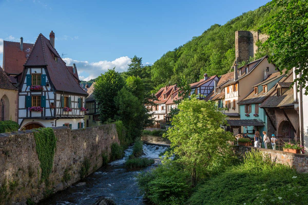 Kaysersberg sur la route des vins d'Alsace