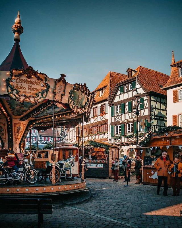 Marché de Noël à Obernai en Alsace