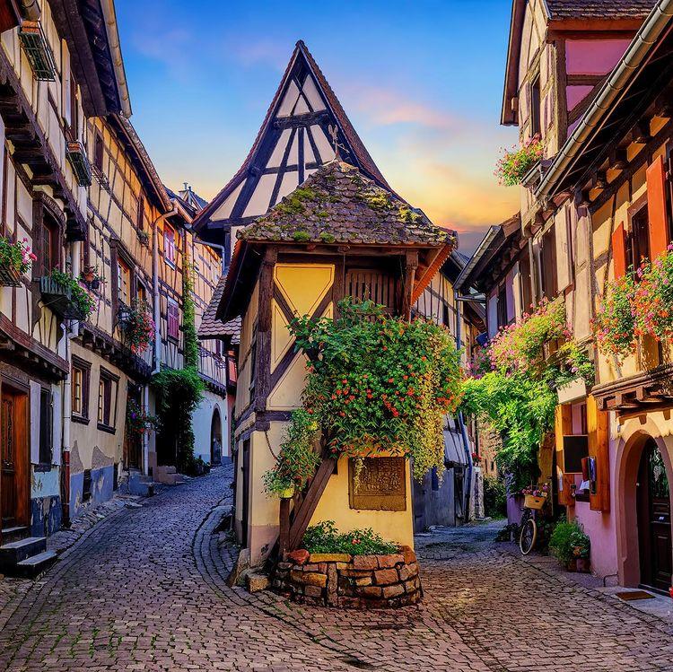 ruelles d'Eguisheim en Alsace