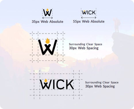 Wick's logo design specifications