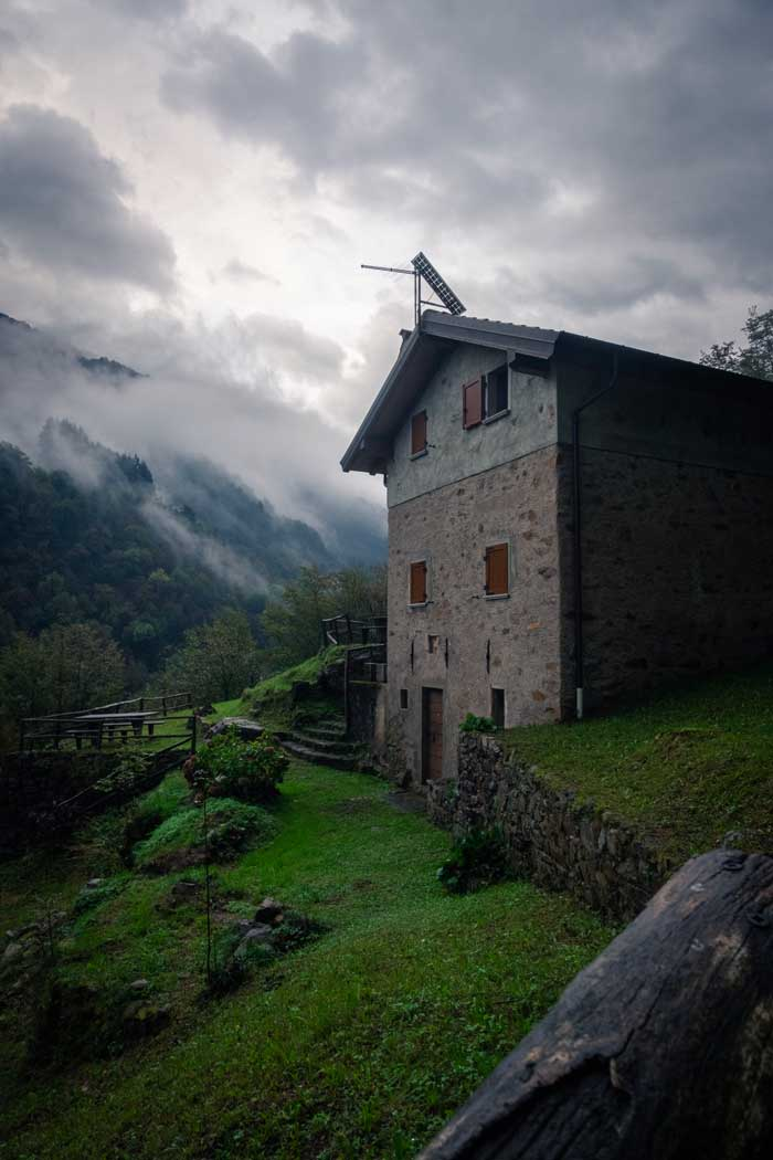 A photo of a hillside house in Lake Como, Italy
