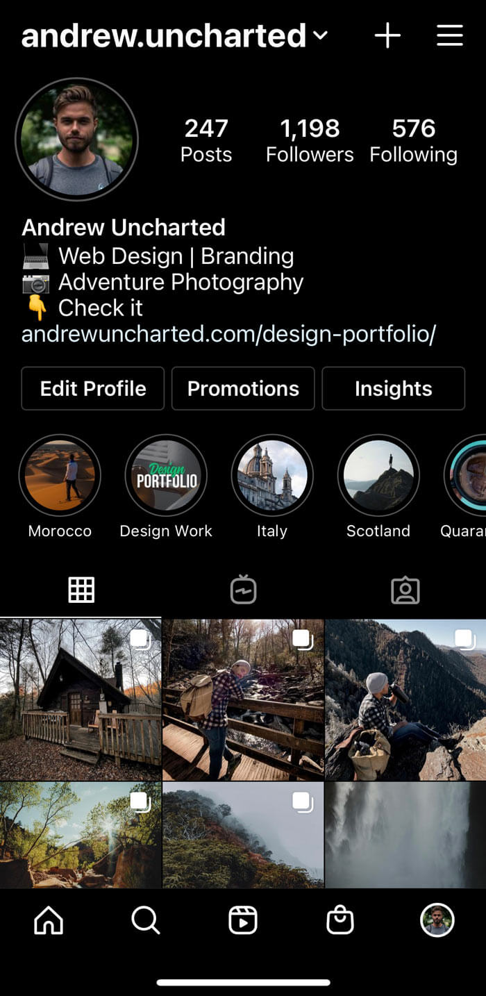 Andrew Uncharted Instagram account