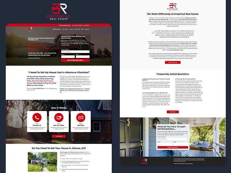 Empirical Real Estate, a freelance landing page redesign project