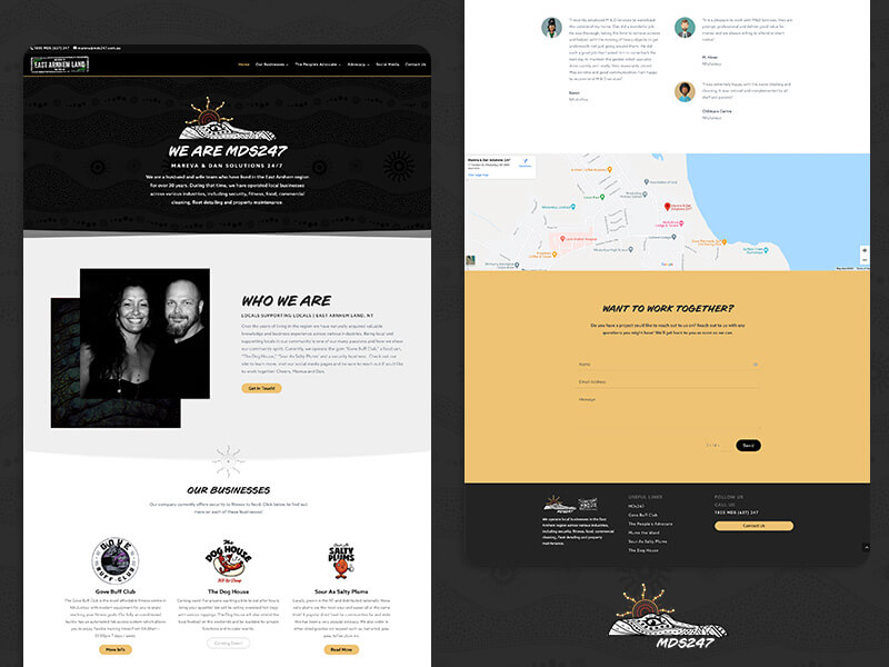 MDS247, a website redesign project using Wordpress & Divi