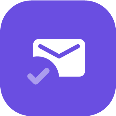 Email with a check icon