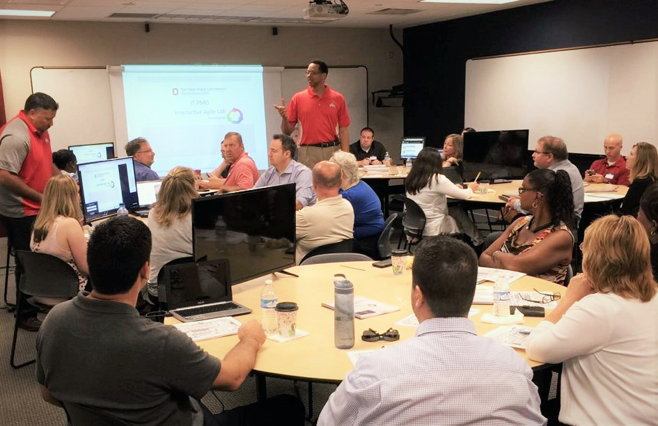 Three12 Agile coaches train 32 scrum masters from The Ohio State University Medical Wexner Center