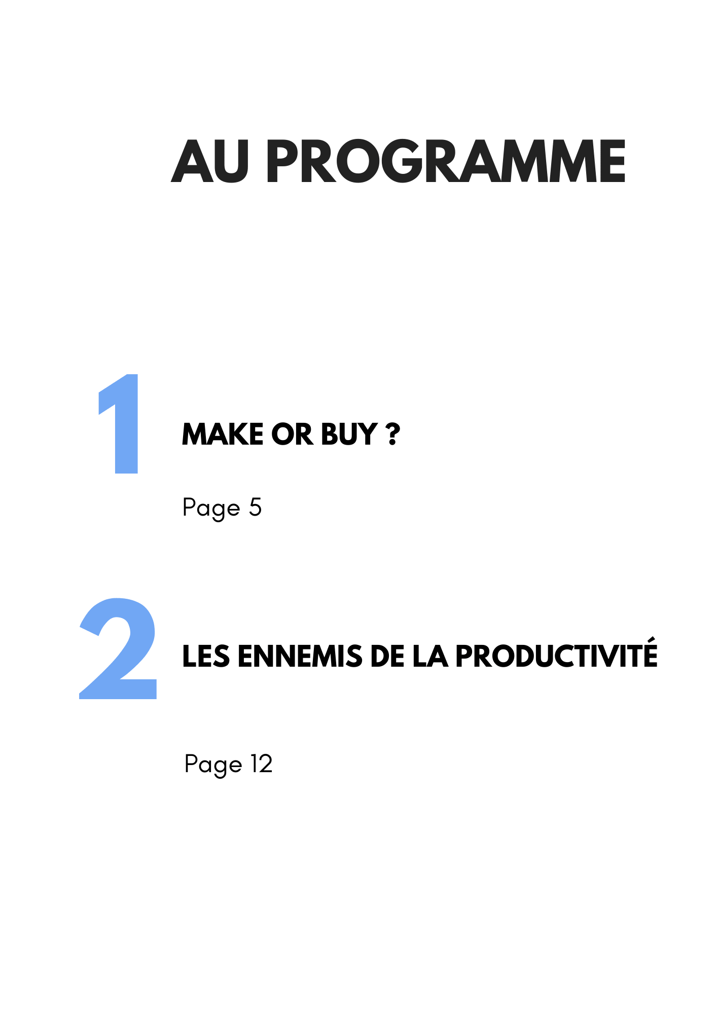 Page sommaire guide coût gestion