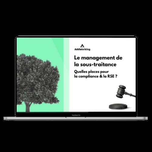 Le management de la sous traitance : quelles places pour la compliance et la RSE ?