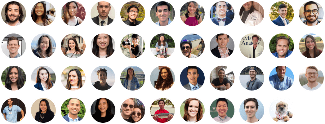 Grid of images of our team