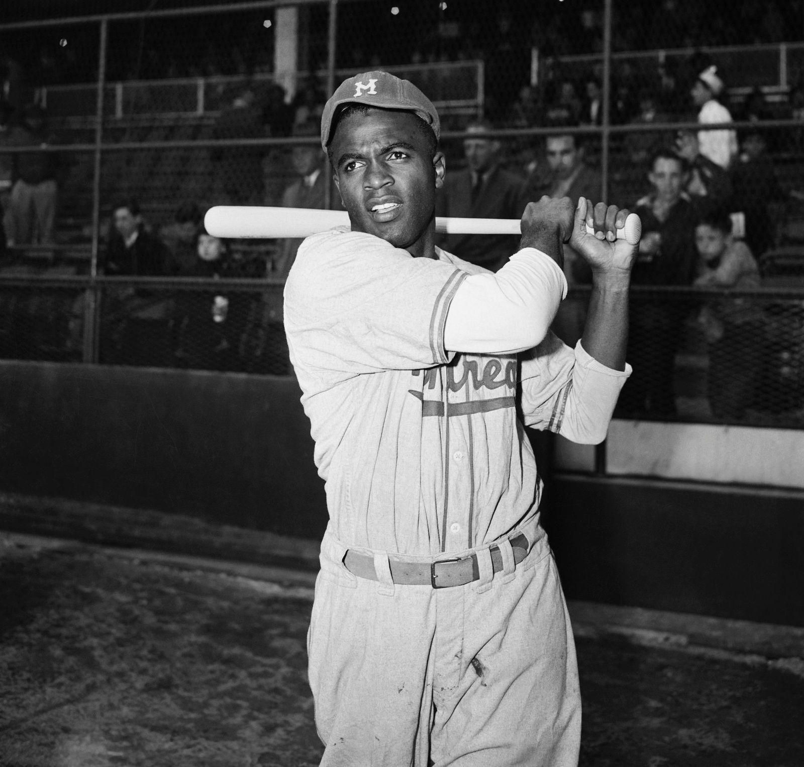 Jackie Robinson batting