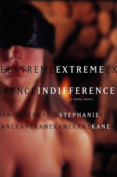 Extreme indifference - blindfolded woman.